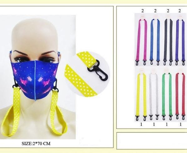 FACE MASKS HOLDER WITH DOTS